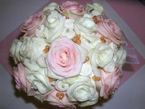 detail mé svatební kytice