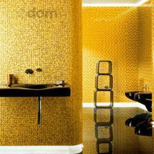zlatá mozaika + čierna