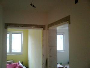 Pri vybere dveri sme zistili, ze nam robotnici nechali vyssie stavebne otvory :-(, tak znizujeme ...