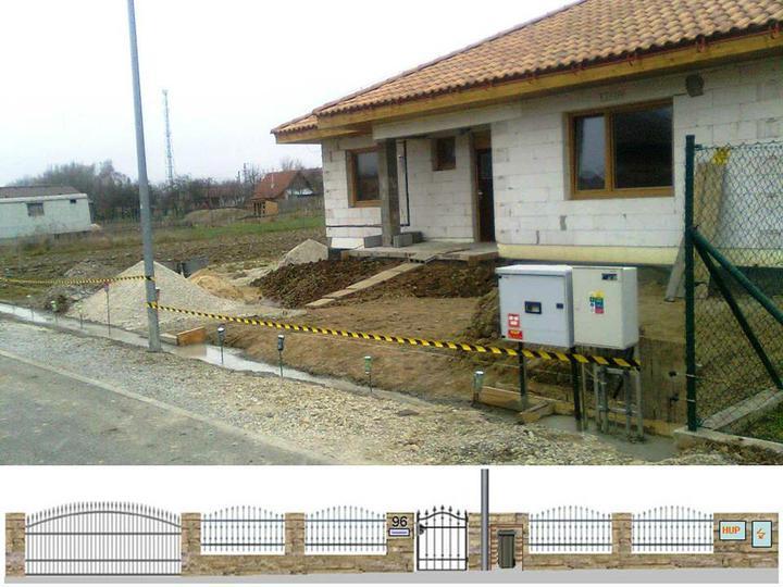 Hruba stavba a strecha finito - uz LEN dokoncujeme :) - Takto teraz vyzera nas plot aktualne (s ozdobenymi roxormi ;-). Dole je nacrt, ako by mal vyzerat po dokonceni.