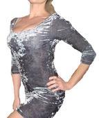 H&M  zamatove šaty, L