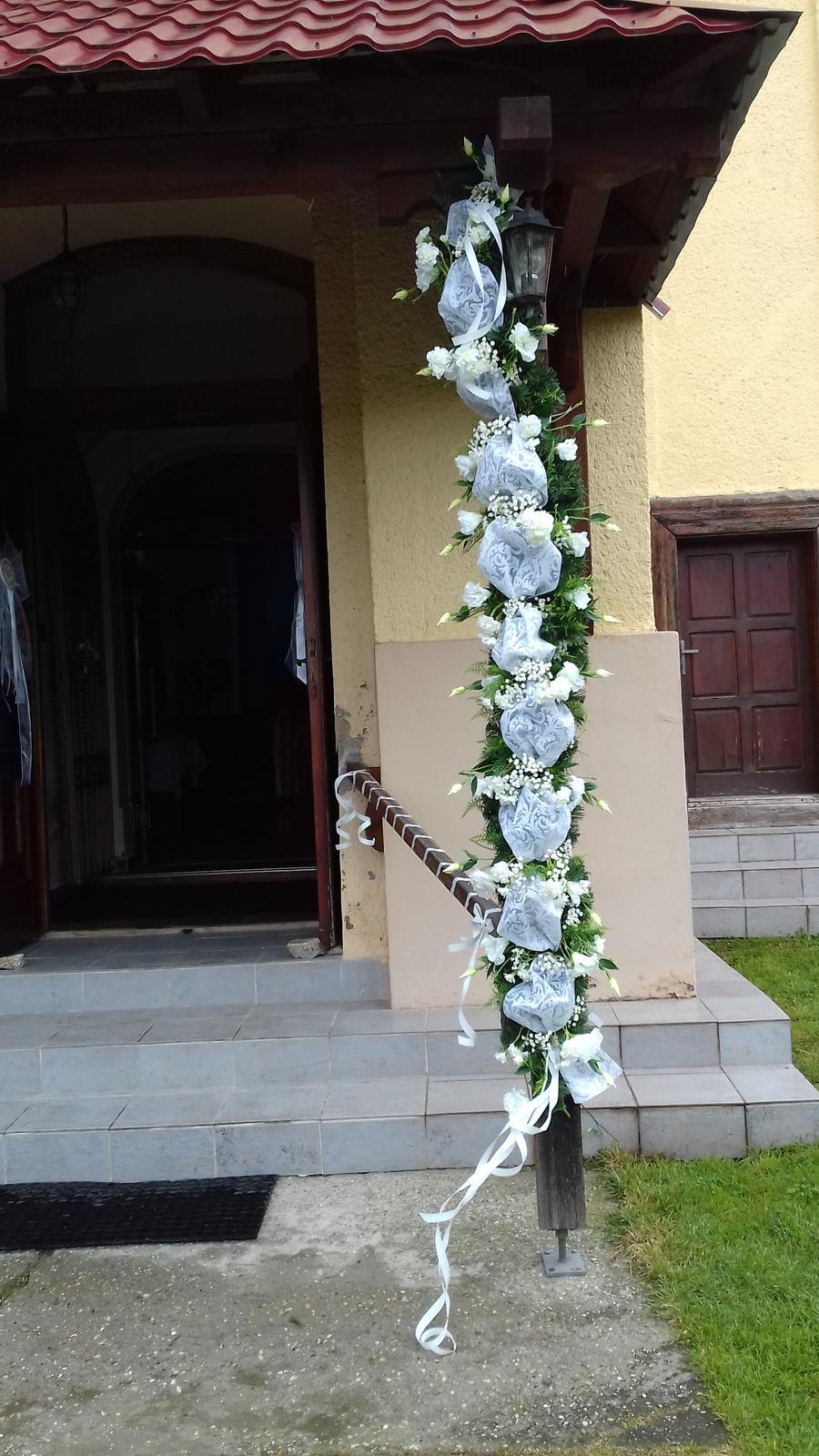 Svadobná girlanda na bránu,dvere - Obrázok č. 3
