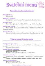 Svatebni menu - vl.tvorba