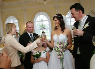 Our witnesses - my Maid of honour (my best friend) and Mark's Best man (my brother in-law)