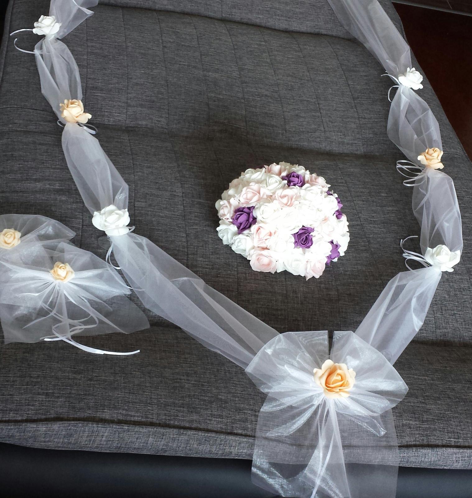 Svatební dekorace na auta - Obrázek č. 72