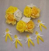 Kvetinky na prisavce + vyvazky