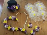 Fialová, lila a jarni žlutá