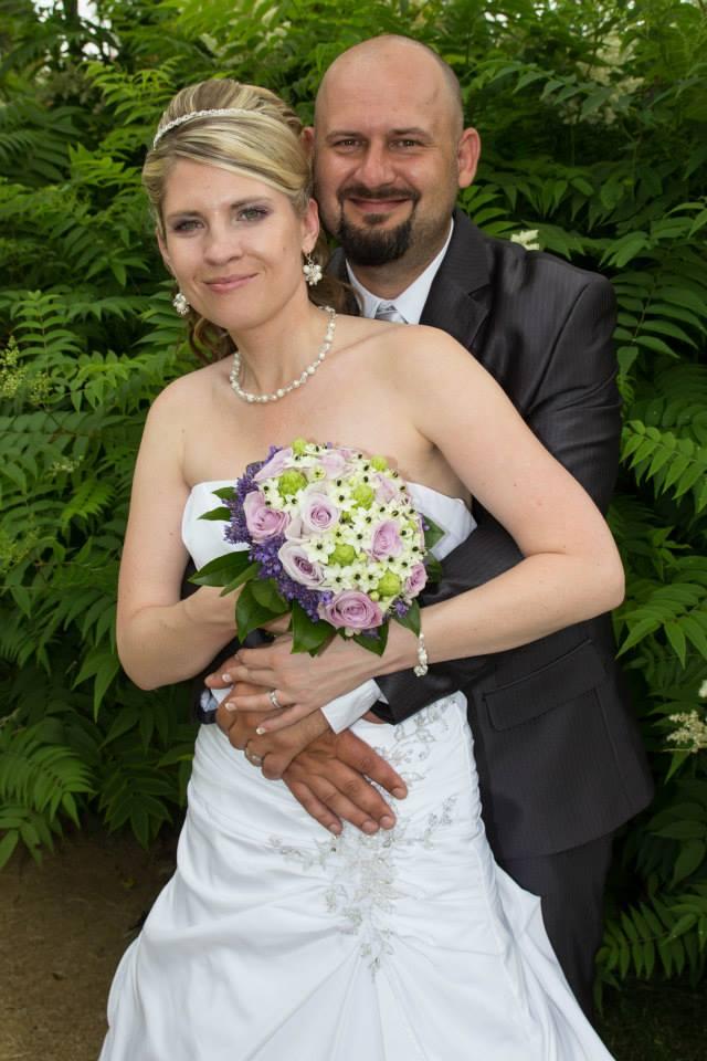 """Bílý svatební náhrdelník """"Michele""""  - Obrázek č. 1"""