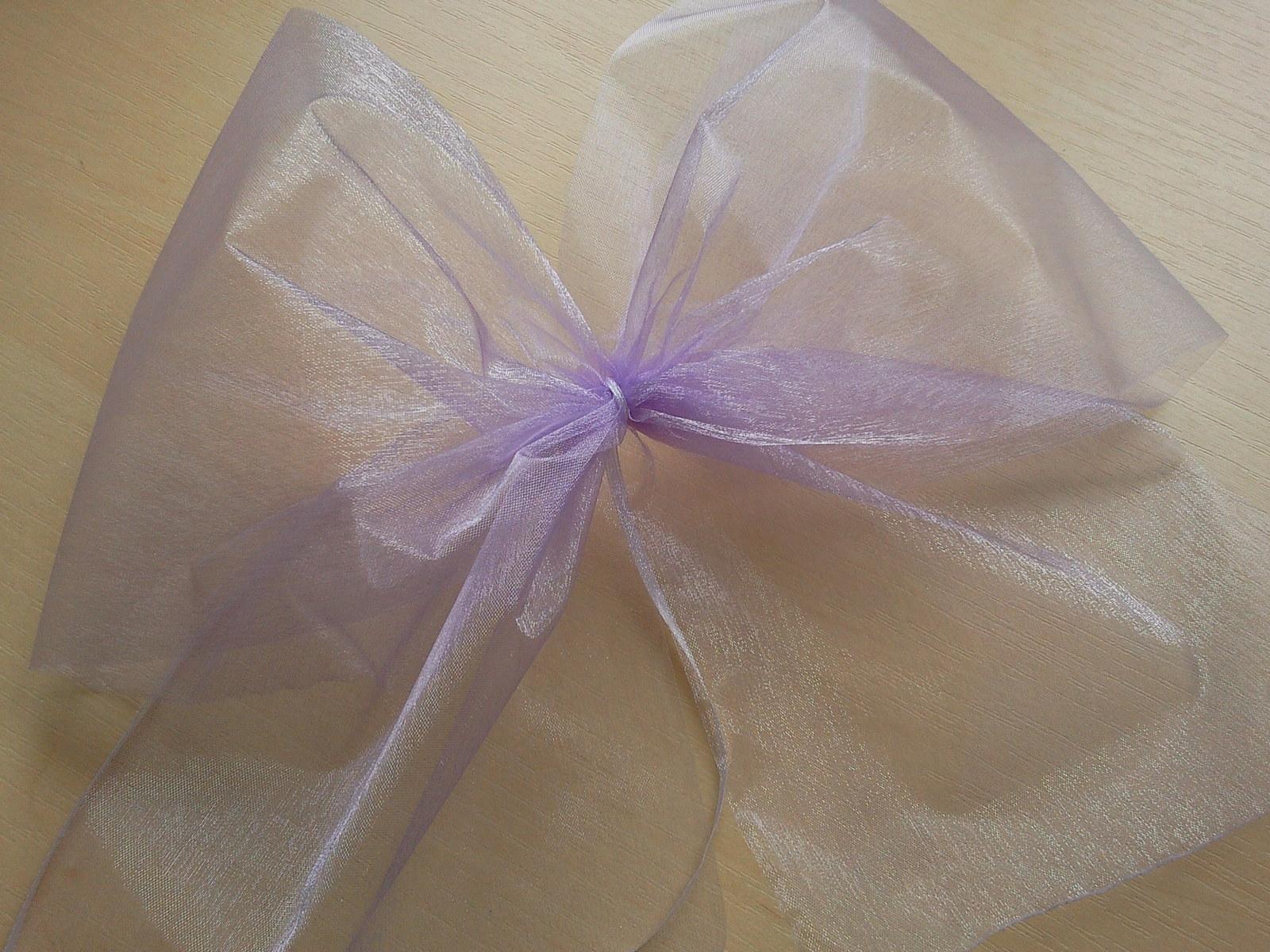 Lila/fialové mašle na zrcátka/kliky  - Obrázek č. 1