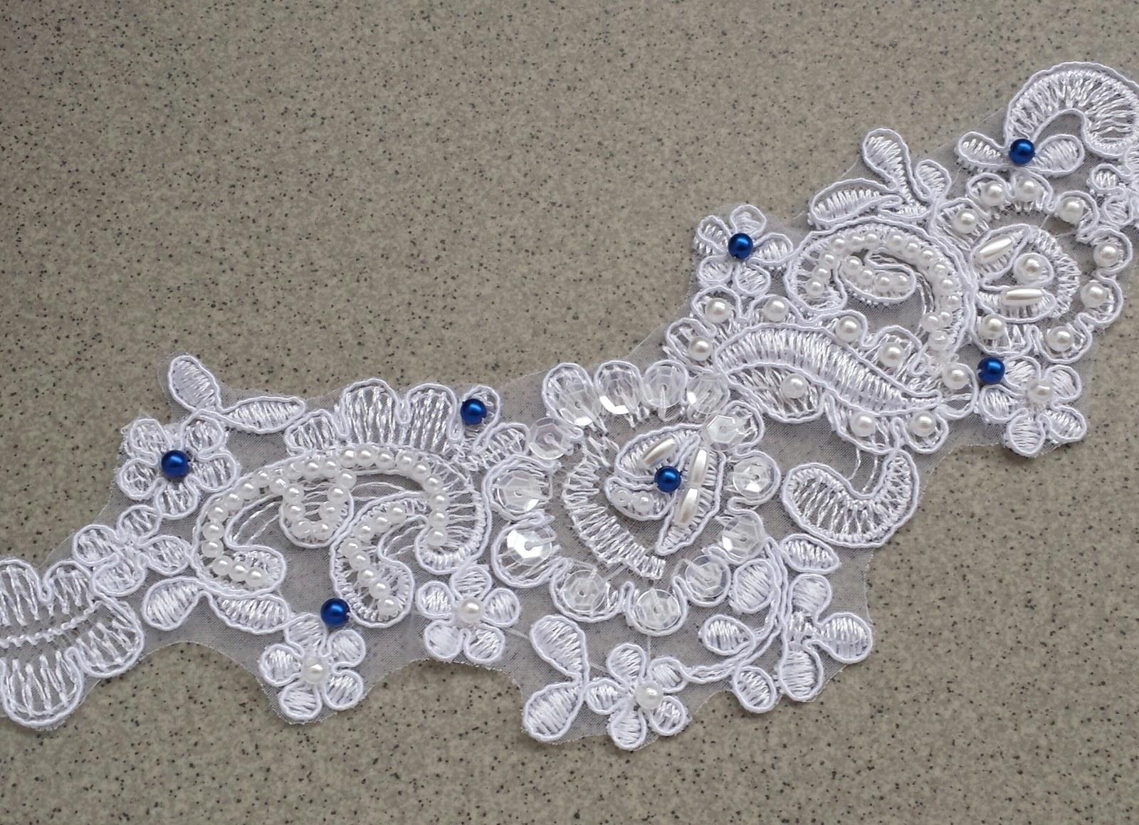 Luxusní bílý svatební pásek - Obrázek č. 4