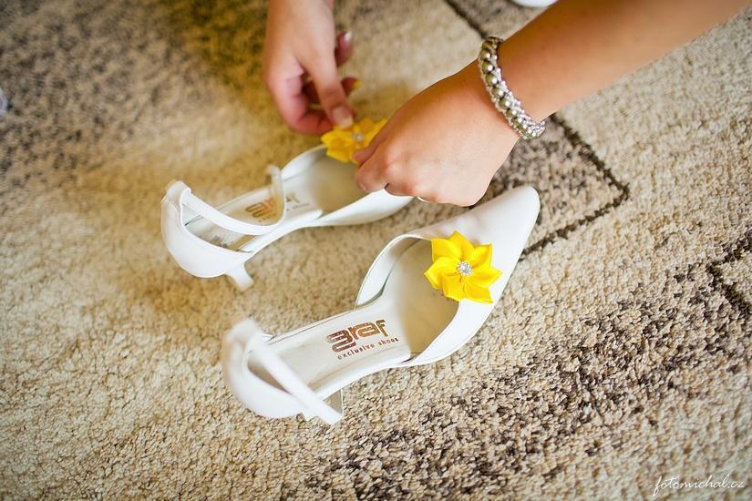 Klipy na boty pro nevěstu s FUCHSIOVOU mašličkou - Obrázek č. 3