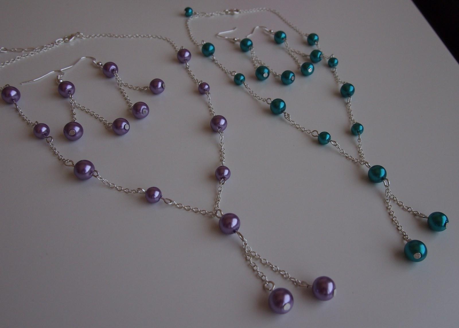 Jemný svatební náhrdelník a naušničky dle přání - Obrázek č. 1