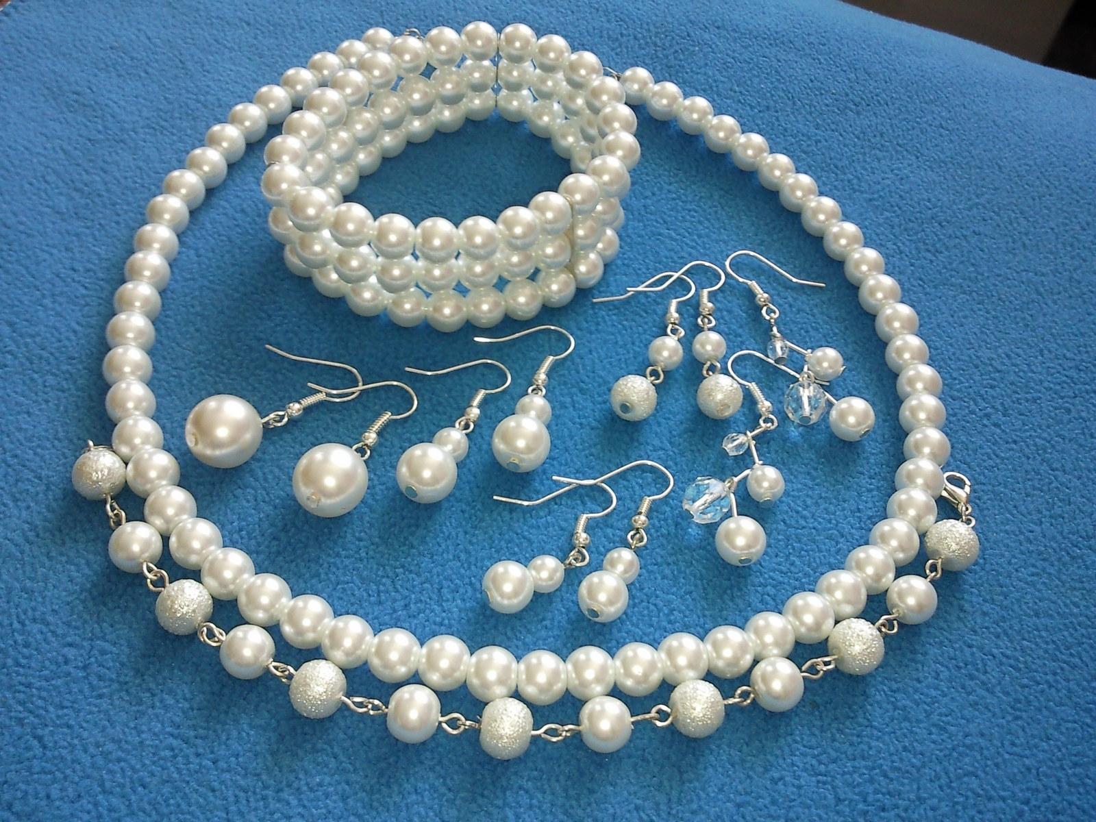 Jednoduchý barevný plesový/svatební náhrdelník - Obrázek č. 4