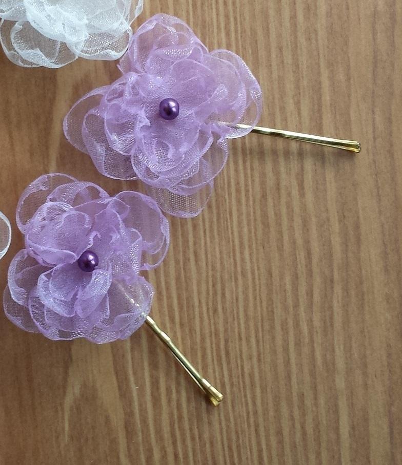 Lila kytička pro družičku / tmavě fialová perlička - Obrázek č. 1