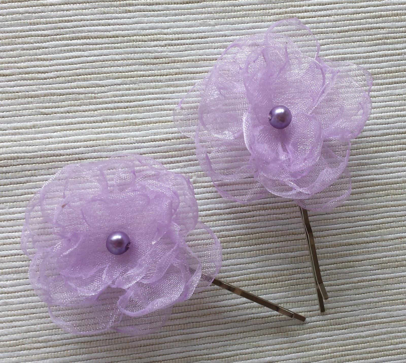 Lila kytička pro družičku - fialová perlička - Obrázek č. 1