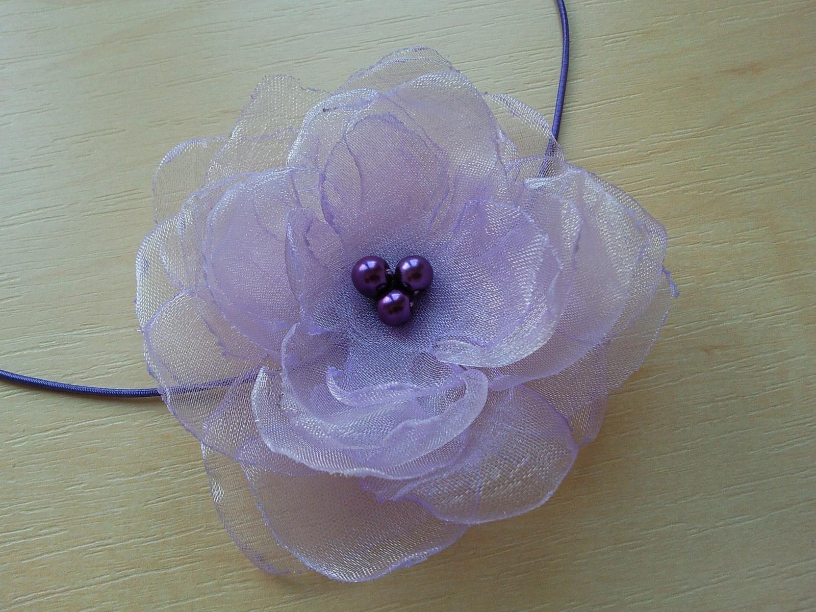 Čelenka pro malou družičku v lila barvě - Obrázek č. 1