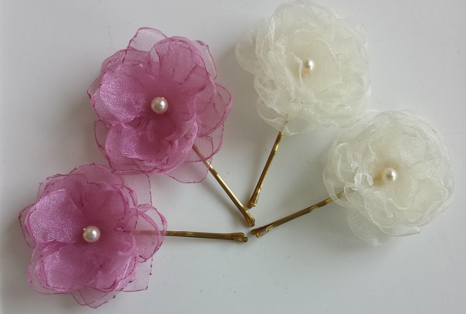 Klipy na boty pro nevěstu - fialový květ - Obrázek č. 3