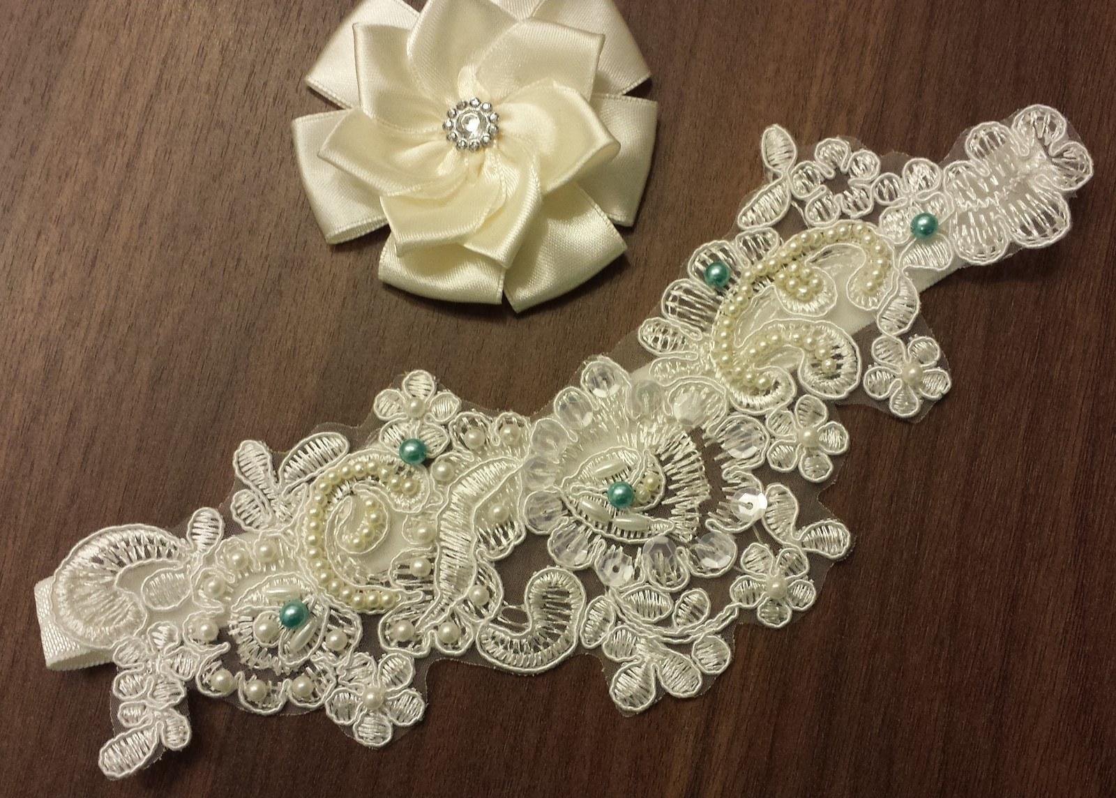 Ivory perličkový svatební hřebínek  - Obrázek č. 3