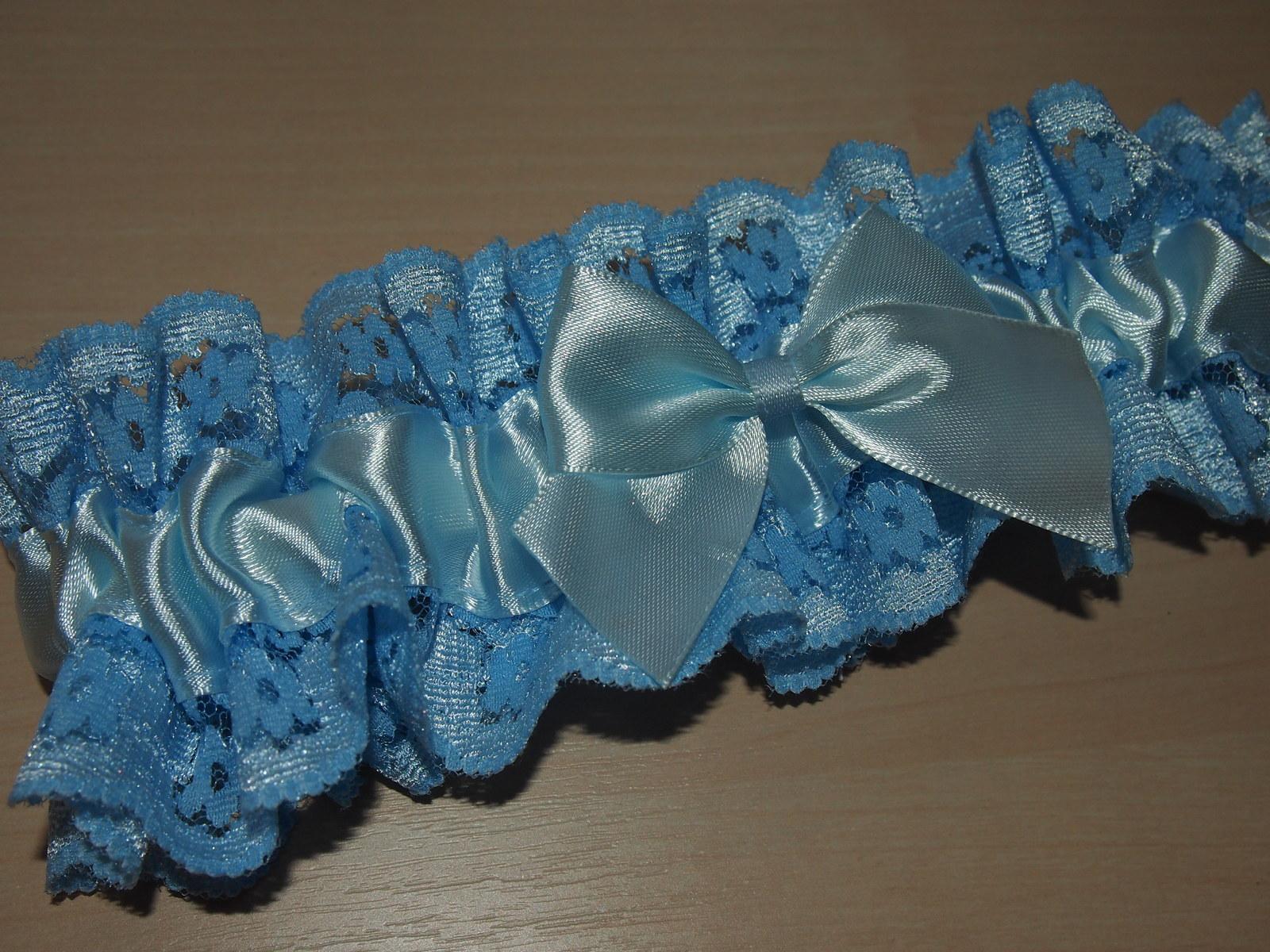 Modrý krajkový podvazek - Obrázek č. 1