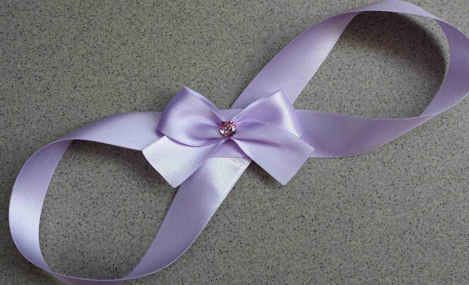 Luxusní lila pásek se SW srdíčkem - Obrázek č. 1