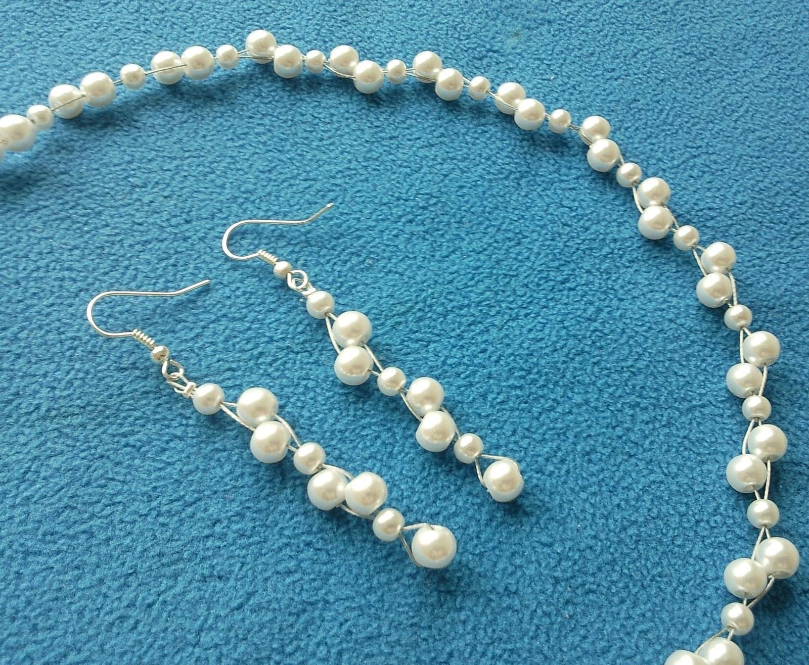 """Svatební náhrdelník a naušničky """"Margareth"""" - Obrázek č. 1"""