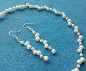 """Svatební náhrdelník a naušničky """"Margareth"""","""