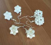 Ivory svatební naušnice z lucerniček,