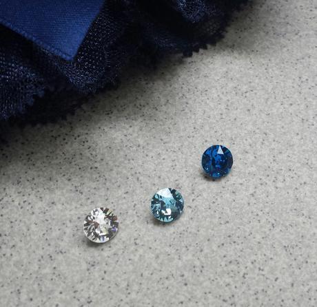 Krajkový tmavě modrý SW podvazek  - Obrázek č. 2