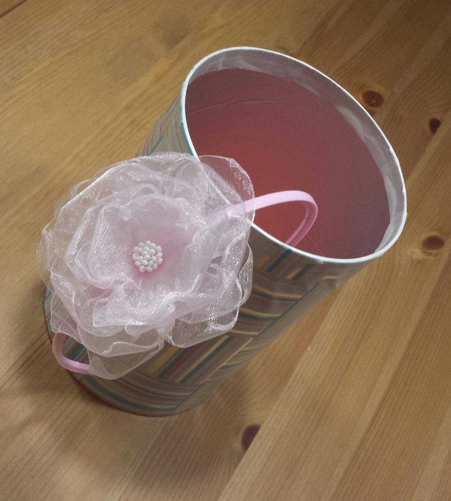 Světle růžová čelenka pro družičku do vlasů - Obrázek č. 1