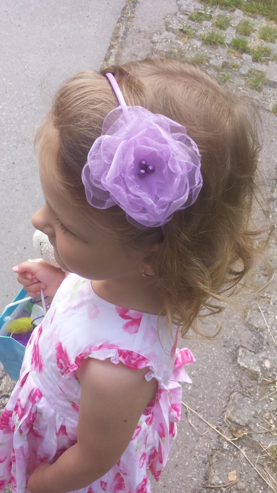 Lila čelenka pro družičku do vlasů  - Obrázek č. 1