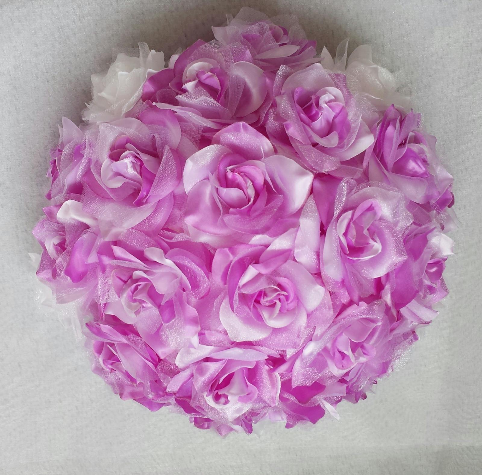 XXL Buket na svatební auto v lila barvě VYPRODEJ - Obrázek č. 1