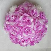 XXL Buket na svatební auto v lila barvě VYPRODEJ,