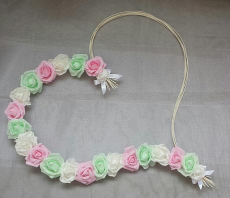 Pedigove srdce na kapotu bílá, mint a růžová  - Obrázek č. 1