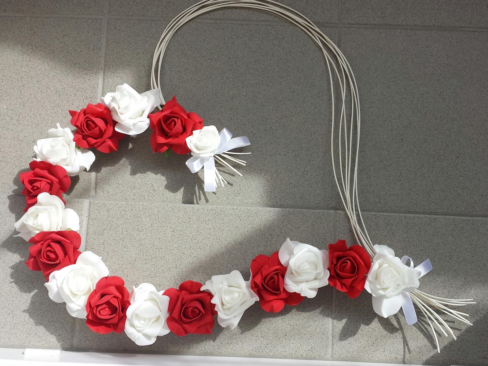 Pedigove srdce na kapotu bílá a červená - Obrázek č. 1