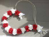 Pedigove srdce na kapotu bílá a červená,