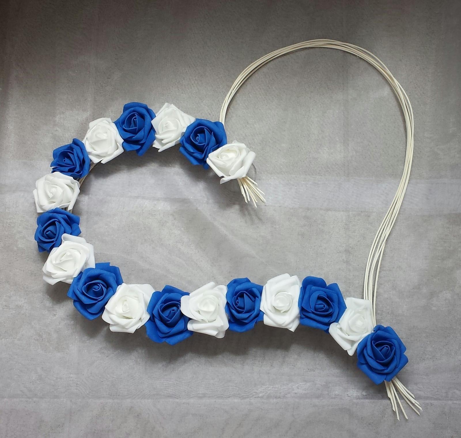 Pedigove srdce na kapotu modrá a bílá - Obrázek č. 1