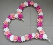 Pedigove srdce na kapotu odstíny růžové,