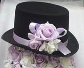 Cylindr na svatební auto lila a bílá,