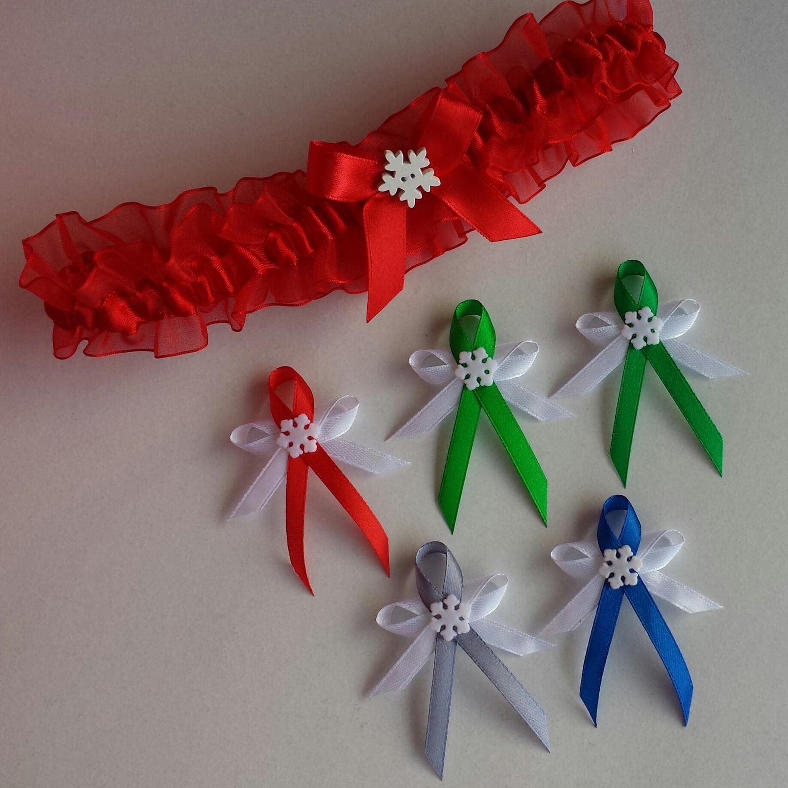 Vánoční / zimní vývazky - vločka - Obrázek č. 1