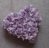 Srdce na kapotu lila,