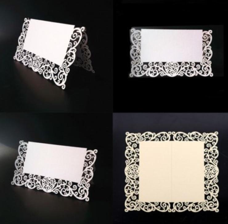 Svatební jmenovka bílá perleťová 21 ks - Obrázek č. 1