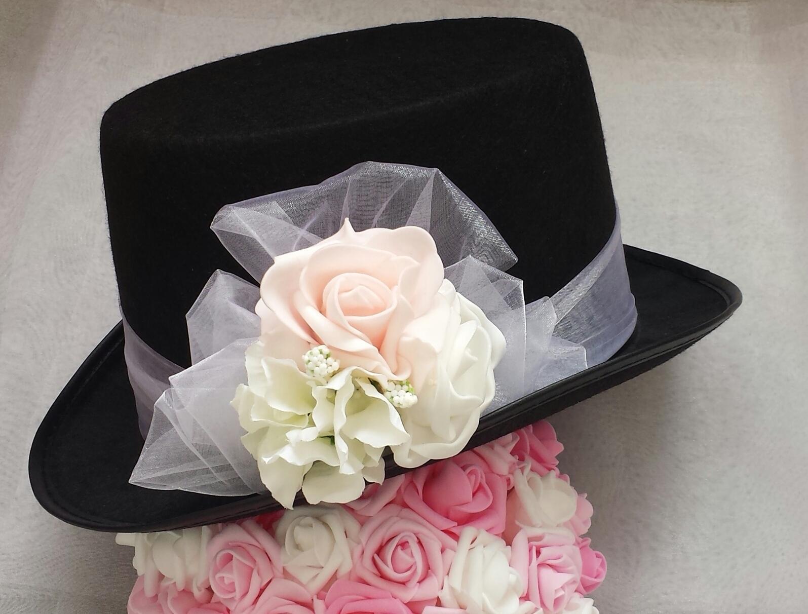 Cylindr na svatební auto - hortenzie + růžová/bílá - Obrázek č. 1