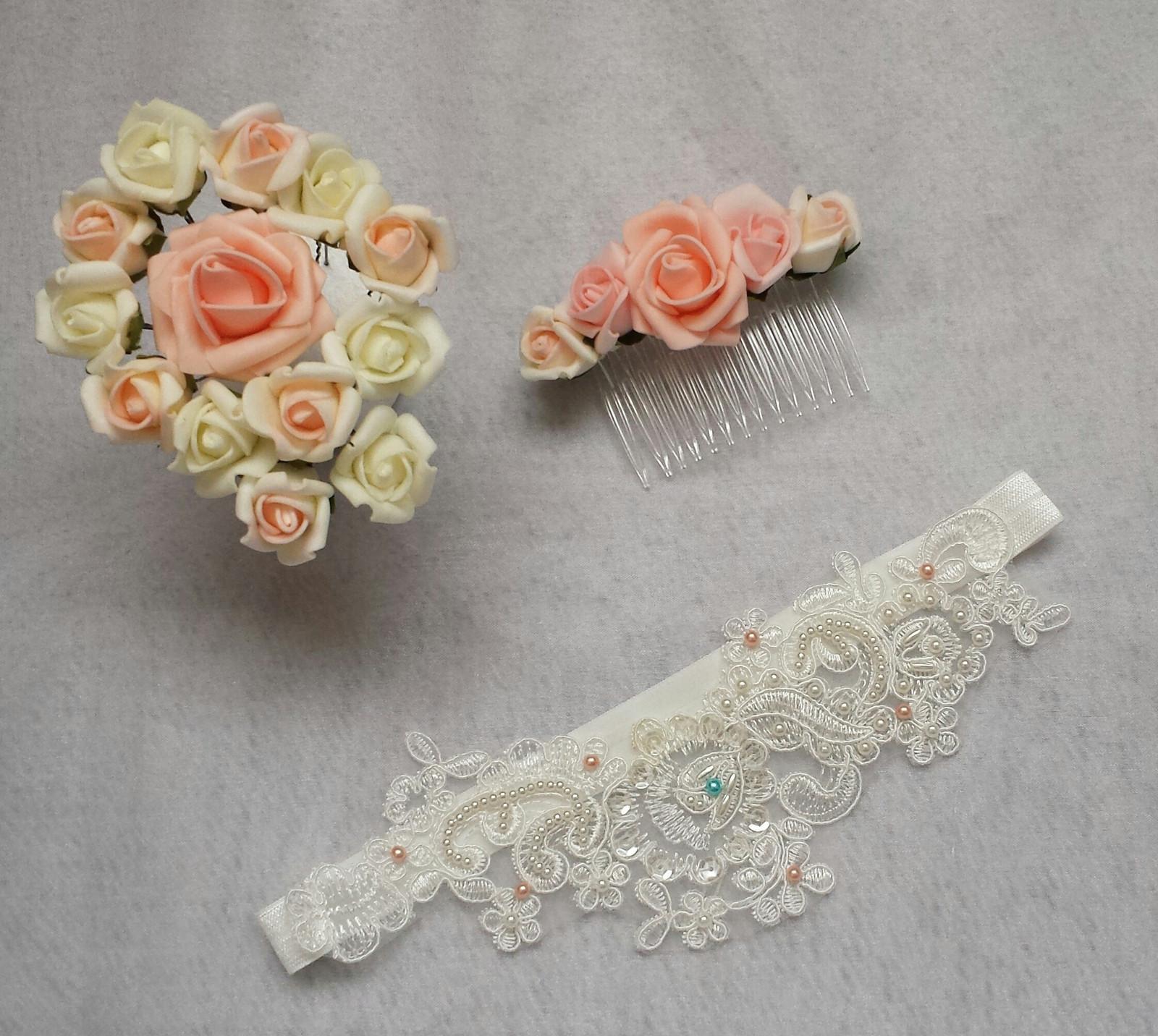 Vlásenky s barevným květem nejen na svatbu - Obrázek č. 1