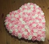 Plné srdce na kapotu odstíny růžové,