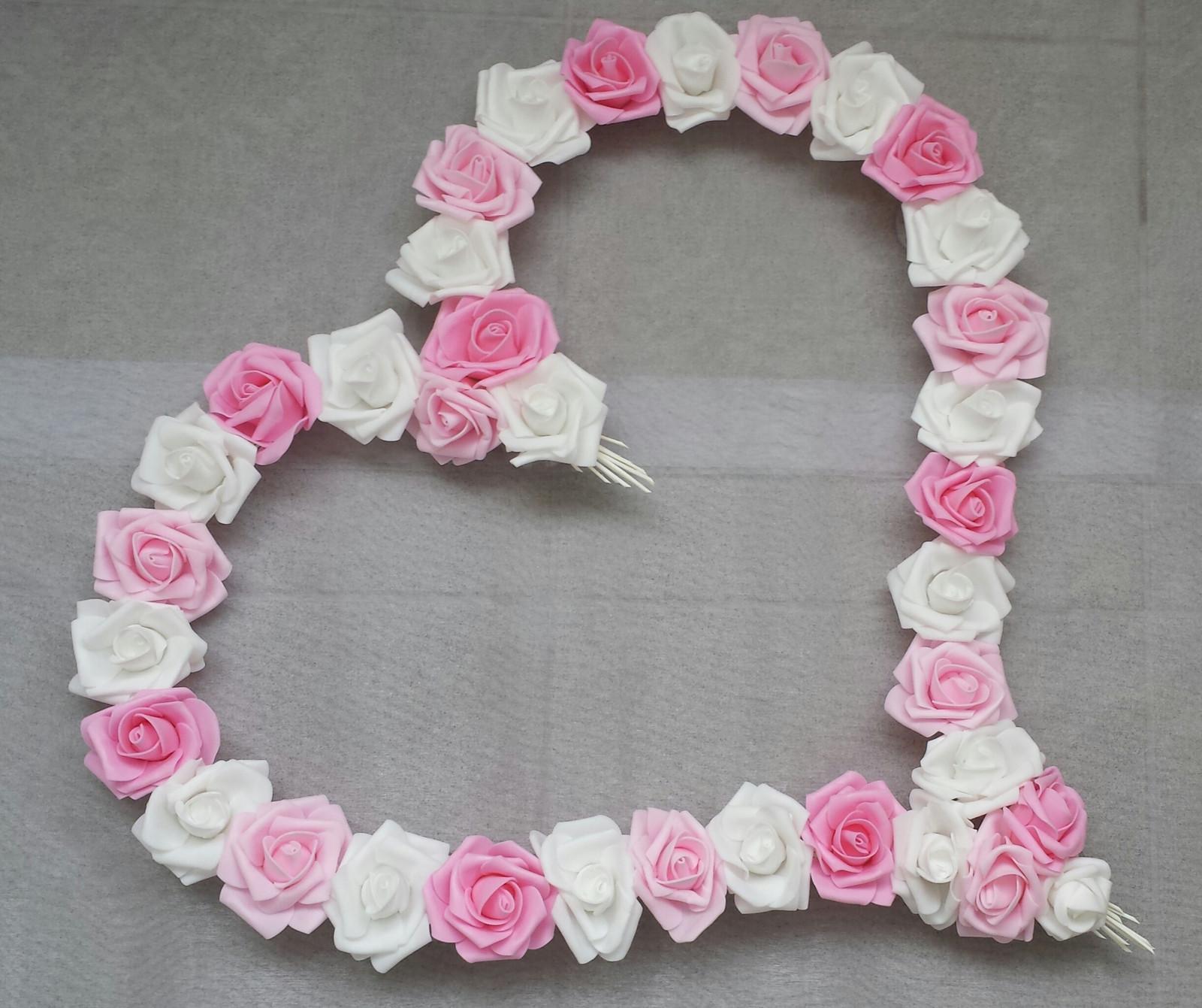 Pedigove srdce na kapotu odstíny růžové - Obrázek č. 1