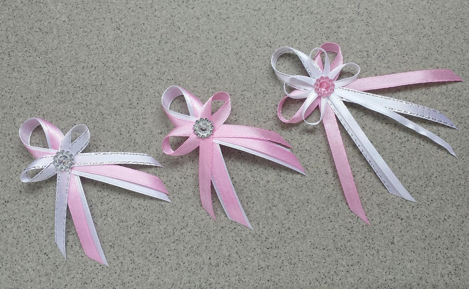 Krajkový bílo/růžový SW podvazek - Obrázek č. 3