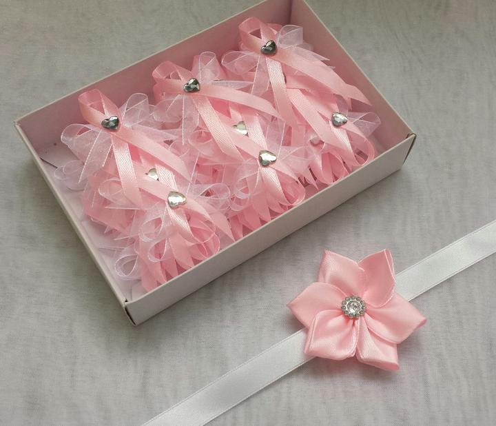Růžové vývazky se srdíčkem - Obrázek č. 1