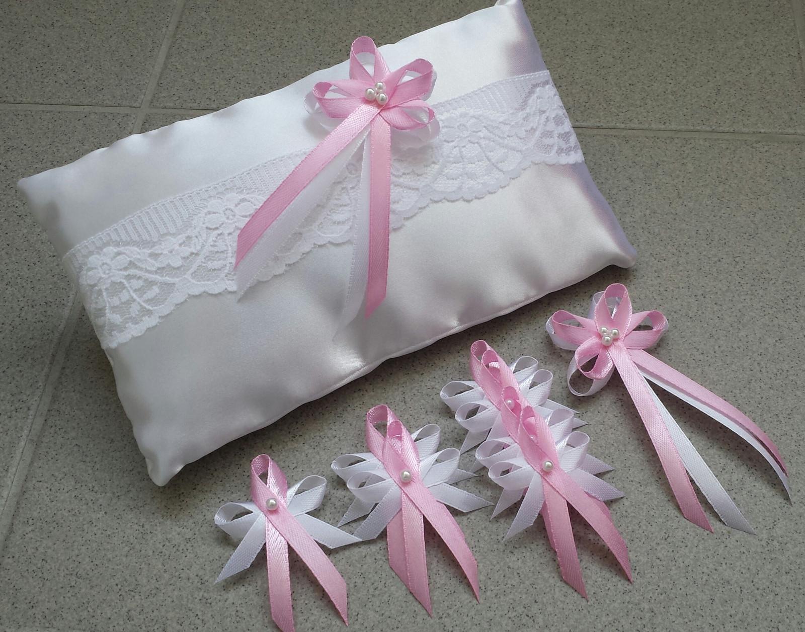 Růžové svatební vývazky - Obrázek č. 1