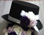 Cylindr na svatební auto fialová a bílá,