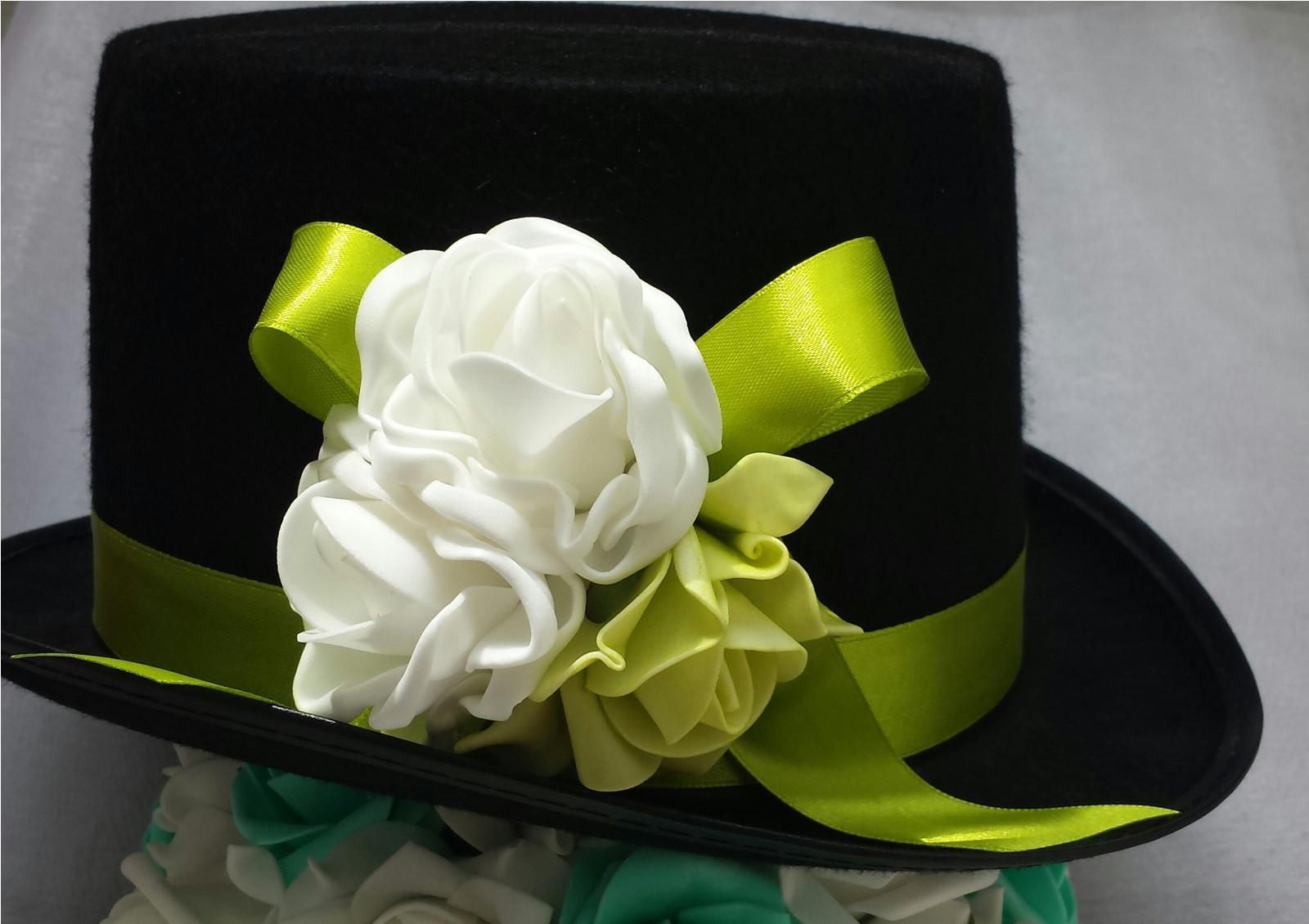 Cylindr na svatební auto - zelené jablko + bílá - Obrázek č. 1